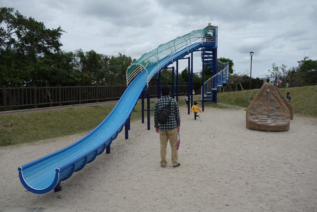 南風原の本部公園滑り台