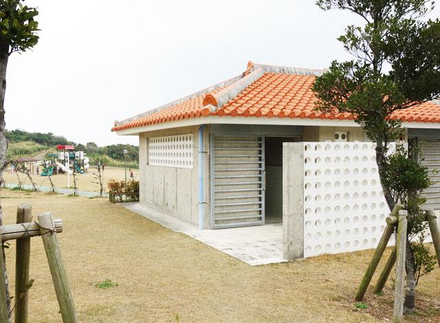 大里城址公園のトイレ