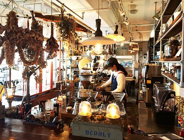 北谷ジバゴコーヒーの店内