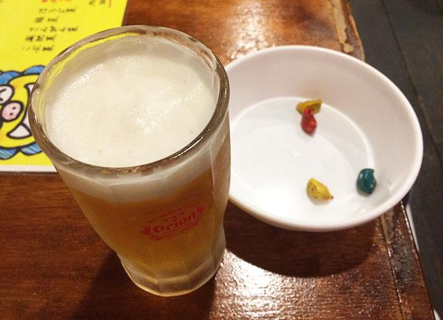 那覇牧志天しーさーの生ビール