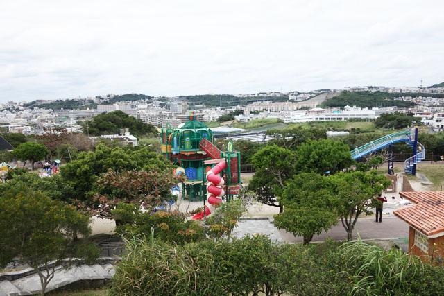 南風原の本部公園の高い台からの景色