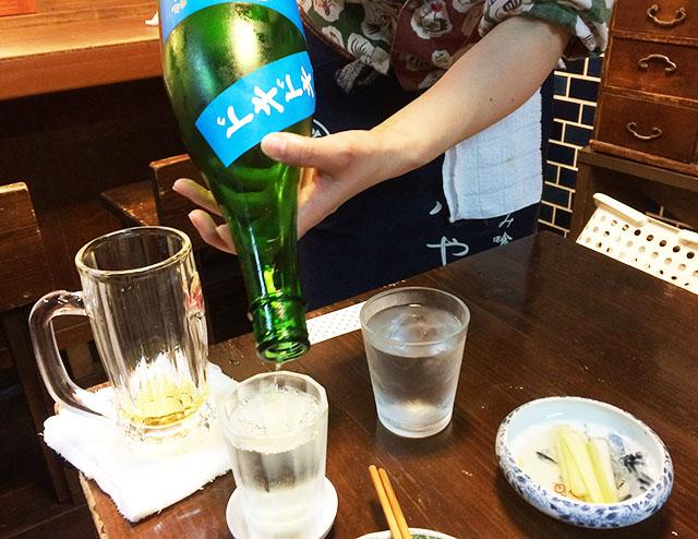 那覇松尾のパーラー小やじの日本酒