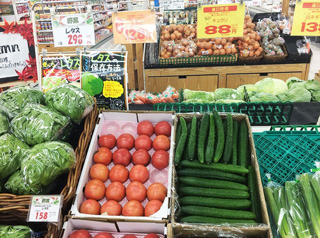 沖縄かねひでのトマトとキュウリ