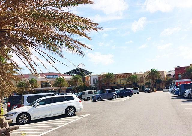 北谷美浜アメリカンビレッジの駐車場
