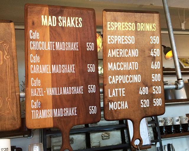 北谷ジバゴコーヒーのコーヒーメニュー