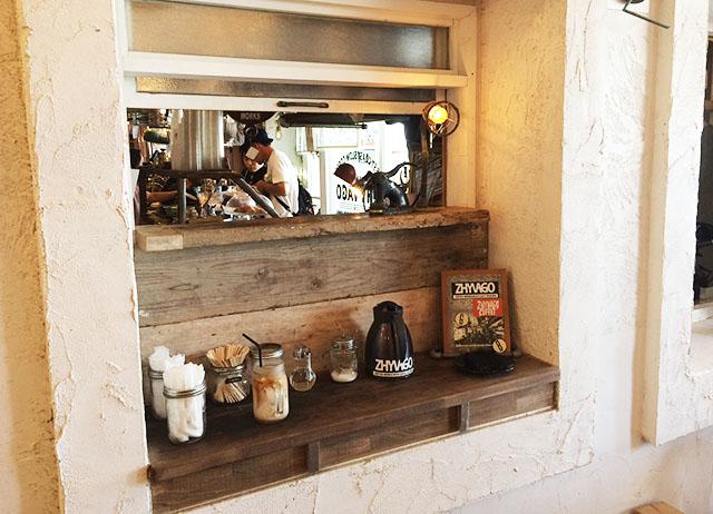北谷ジバゴコーヒーのコーヒー受け取り場