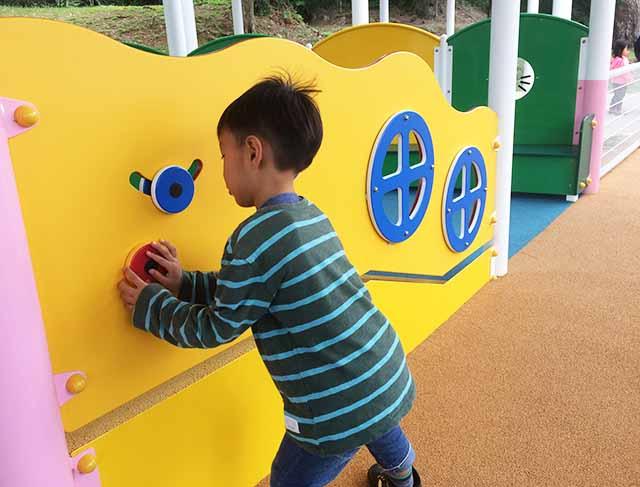 浦添大公園の新しい遊具の乳幼児向けの遊具