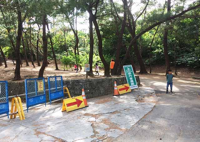 浦添大公園の新しい遊具へ向かう