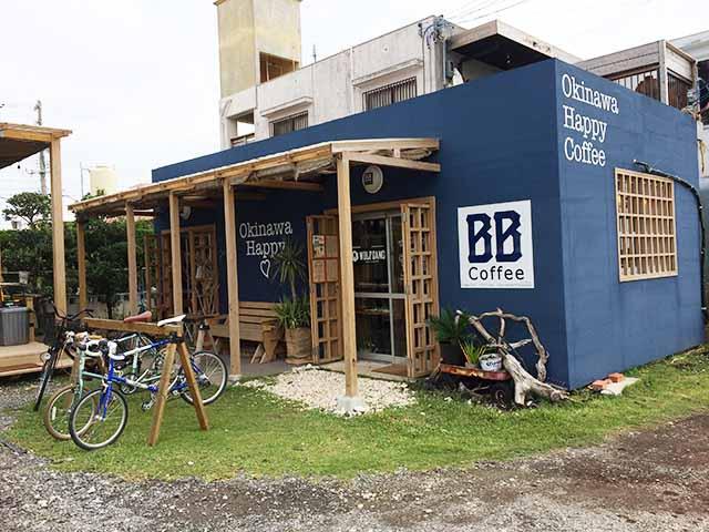 泡瀬のBB-Coffee(ビービーコーヒー)入り口外観