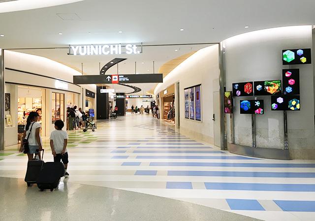 那覇空港の国際線のユイニチストリート