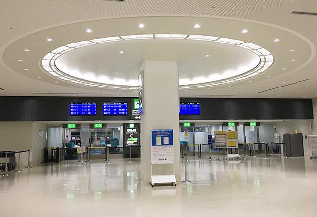 那覇空港の国際線搭乗口