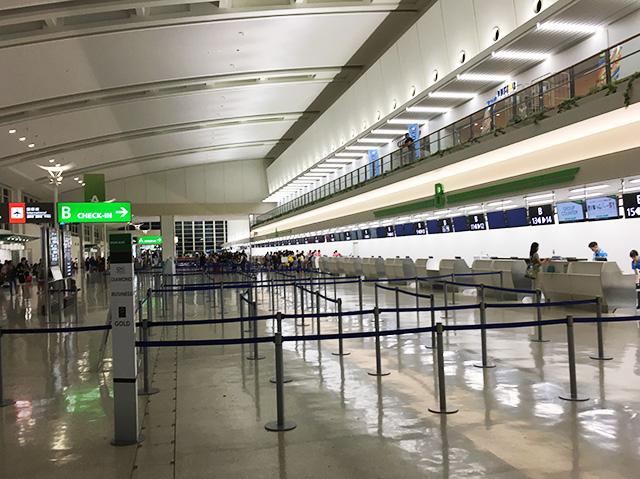 那覇空港の国際線フロア