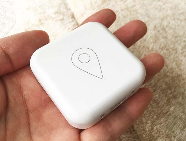 GPSBOTは手のひらサイズ